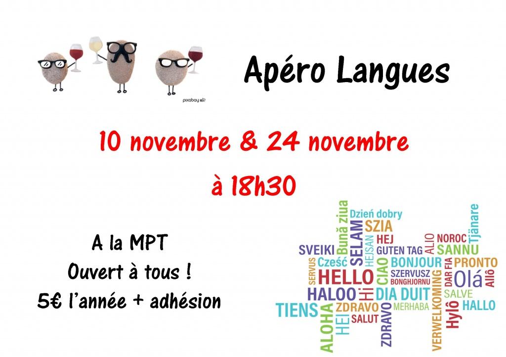 Apéro langues novembre
