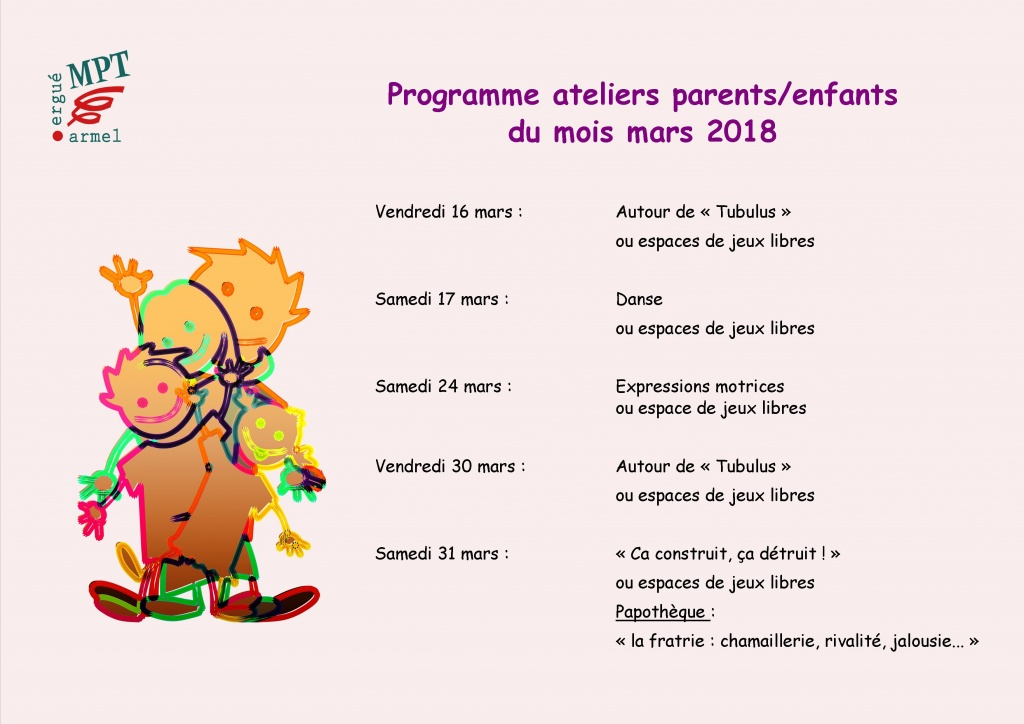Ateliers parents enfants mars