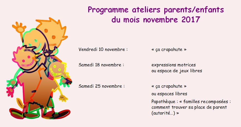 Ateliers parents enfants novembre