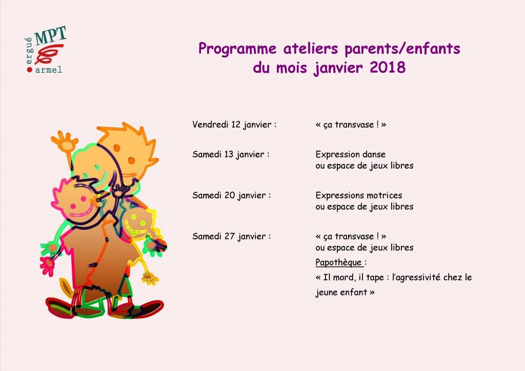 Ateliers parents enfants janvier