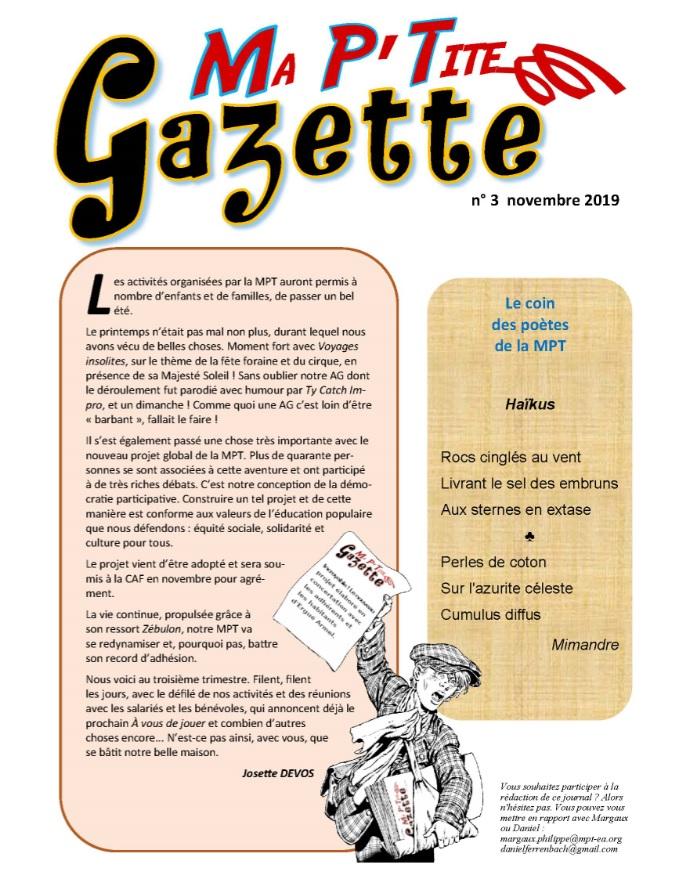 Ma P'tite Gazette #3